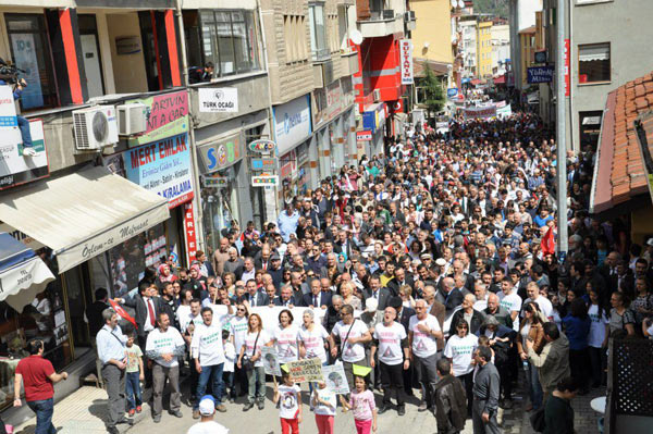 An anti-mining protest in the mountain town of Artvin, Turkey. Photo: Green Artvin Association