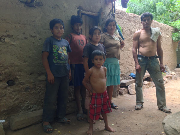 Paquito Vargas Machuca and his family say they are being pressured to accept an offer by the Brazilian construction firm Odebrecht to sell their land and be resettled to an undisclosed desert location against their will. Photo credit: Veronica Goyzueta