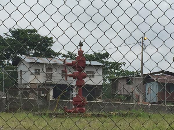 Dayuma ground zero: the local oil pump. Photo credit: Bill Hinchberger.