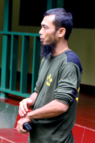 Zulfi Arsan, a vet at the Sumatran Rhino Sanctuary. Photo by: Tiffany Roufs.