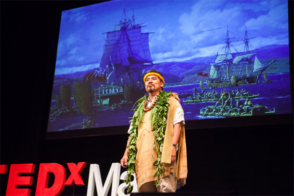 Samuel M. 'Ohukani'ōhi'a Gon, III speaking at TEDx Maui