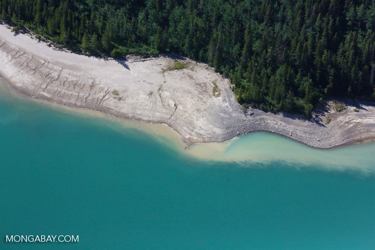 Lake or reservoir near Banff