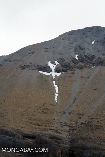 Snow cross on a mountain