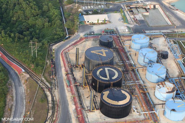 Oil tanks in Riau