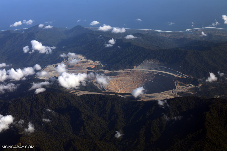 Newmont Mining Corporation's open pit copper-gold mine on Sumbawa