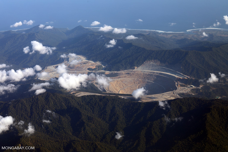 Open pit copper-gold mine on Sumbawa
