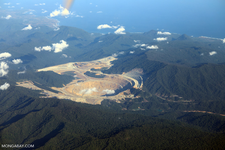 Newmont Mining Corporation's open pit copper-gold mine in Indonesia