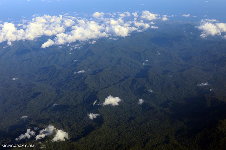 Clouds over the rainforest in Bima