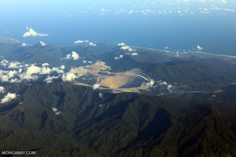 Newmont Mining Corporation's open pit copper-gold mine