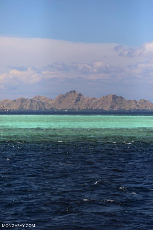 Shallow seas off Komodo Island