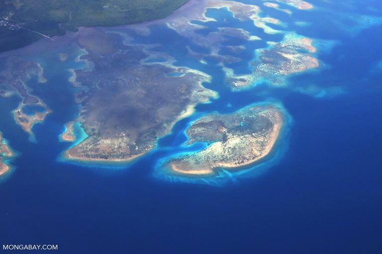Reefs and islands off the coast of Sulawesi