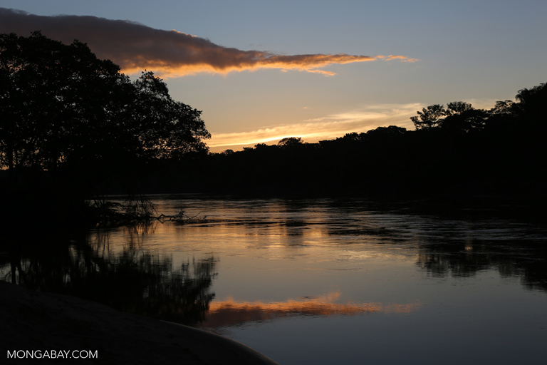 Sunset over the Tambopata river