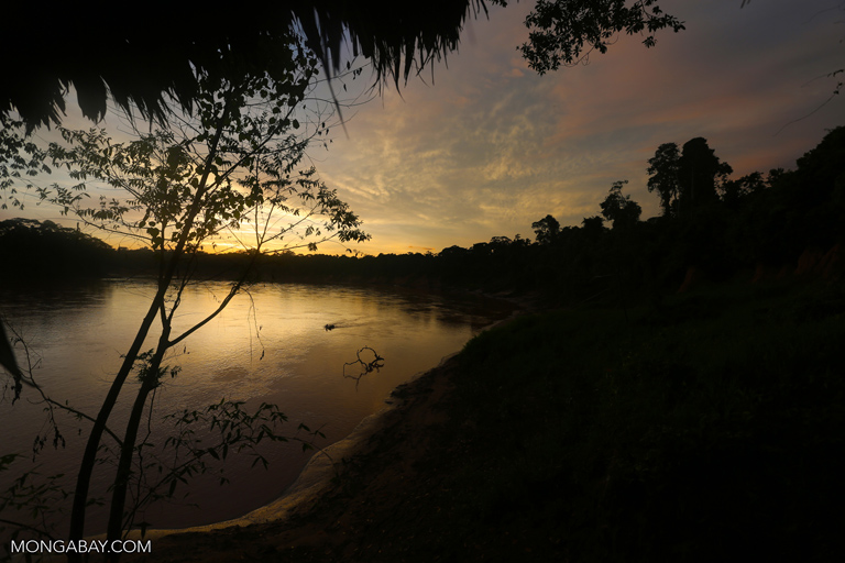 Sunrise over the Tambopata river
