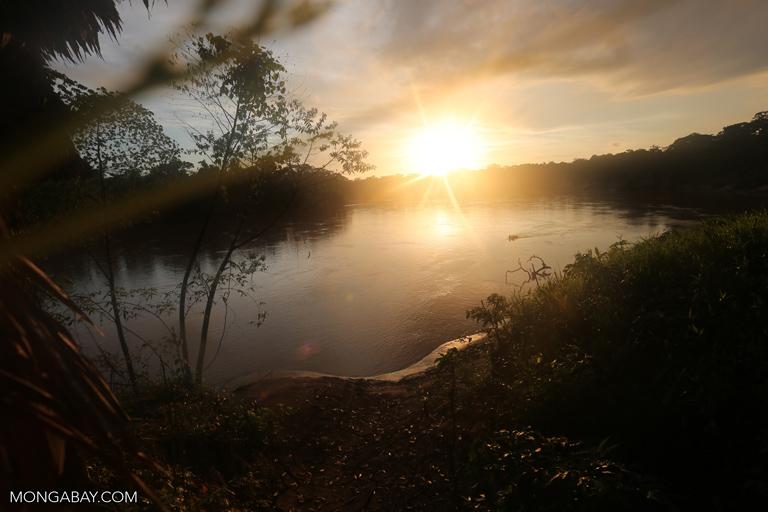Sunrise over the Tambopata river