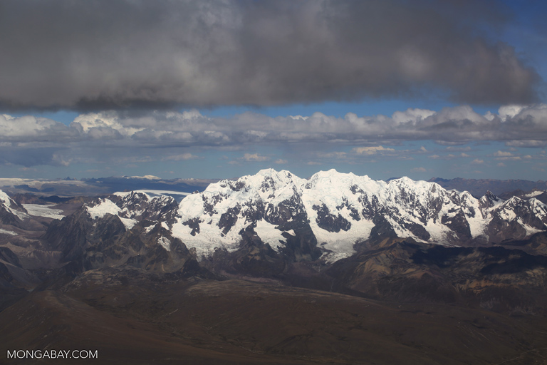 Snow-capped peaks in the Andes