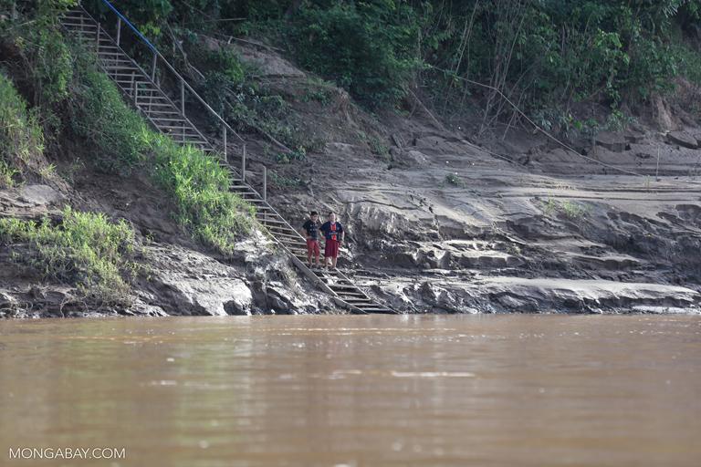 Ecolodge guides along the Tambopata river