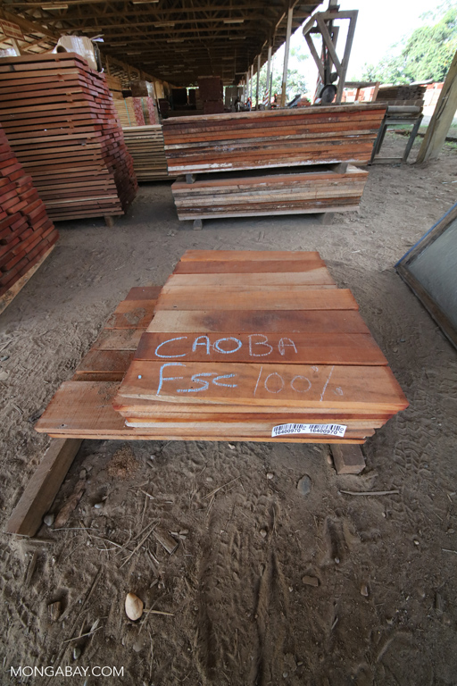 Caoba FSC-certified timber