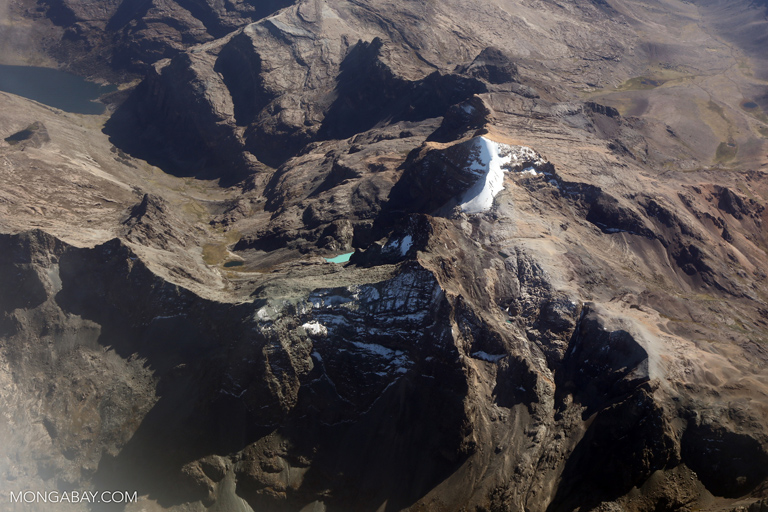 Aerial view of the Andes