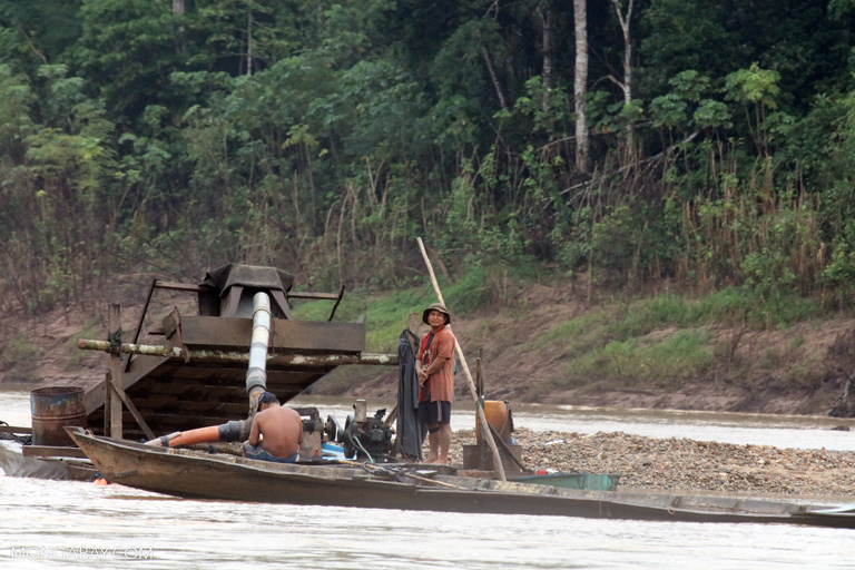 A small, illegal gold mining operation in the Peruvian Amazon. Photo by Rhett A. Butler