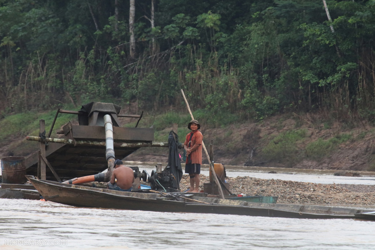 Illegal miners in the Peruvian Amazon
