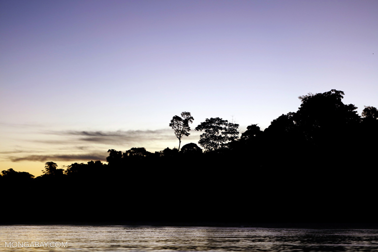 Sunset over the Tambopata rainforest