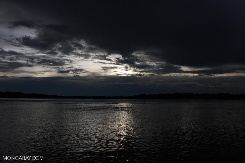 Rio das Mortes at sunset