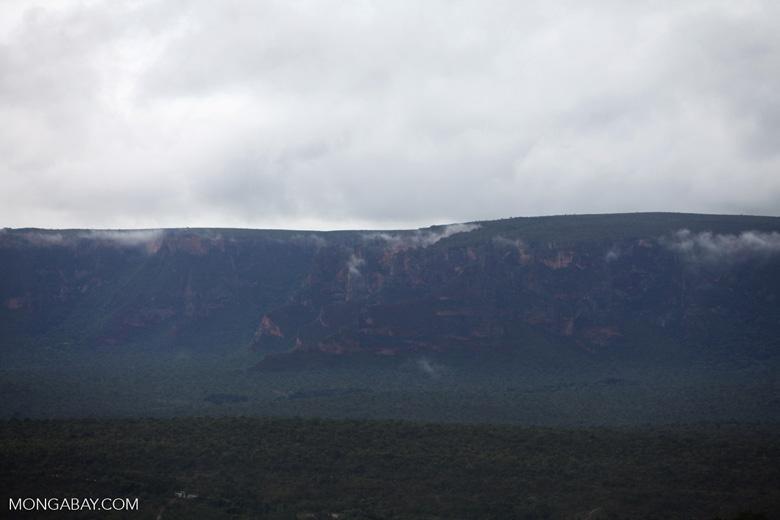 Rocky cliffs at Chapada