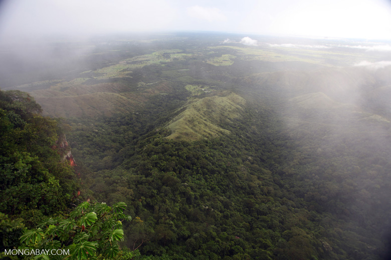 Mosiac of forest, pasture, and cerrado seen from Chapada overlook