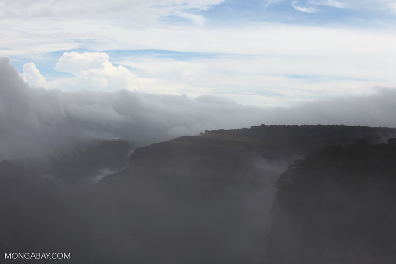 Rocky cliffs at Chapada (through the fog)