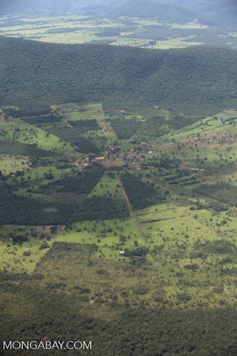 Agricultural clearing and forest reserves in the southern Amazon