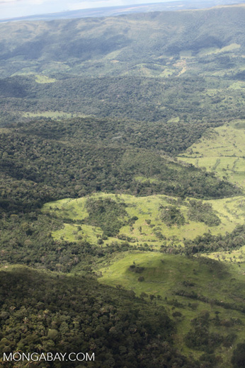 Agricultural clearing and forest reserves in the southern Amazon [brazil_0203]