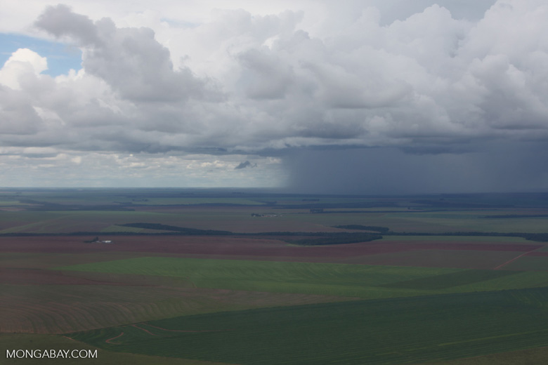 Storm over the Amazon's agricultural landscape