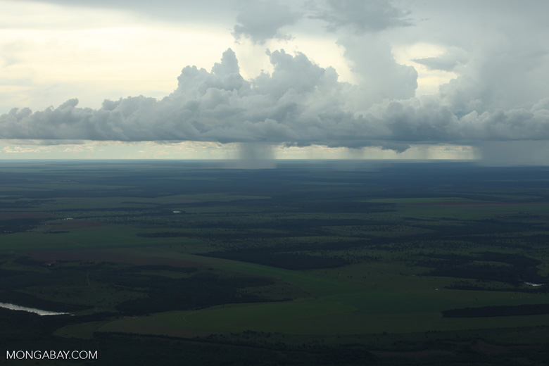 Rainstorm over the Amazon