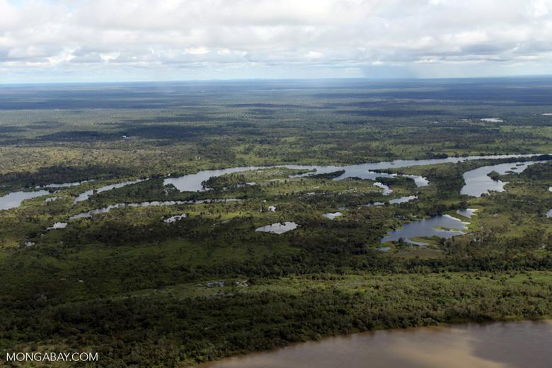 Aerial view of the Rio das Mortes [brazil_0814]