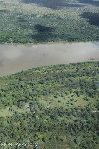 Aerial view of the Rio das Mortes [brazil_0821]