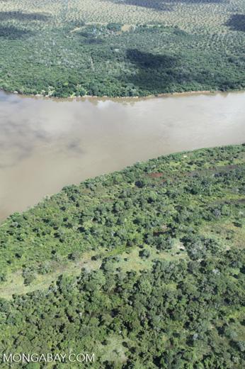 Aerial view of the Rio das Mortes [brazil_0822]