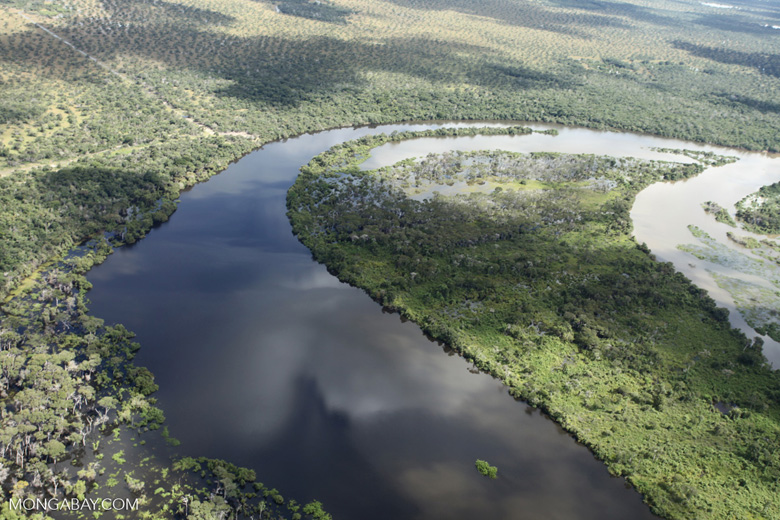 Aerial view of the Rio das Mortes [brazil_0826]