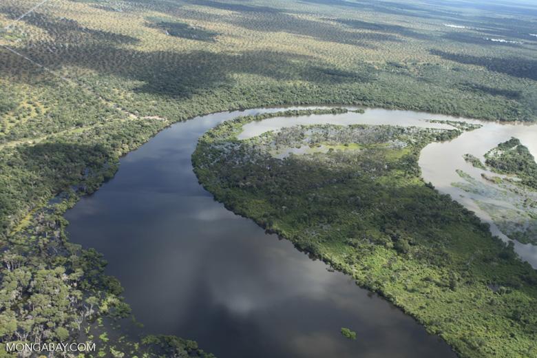 Aerial view of the Rio das Mortes [brazil_0827]