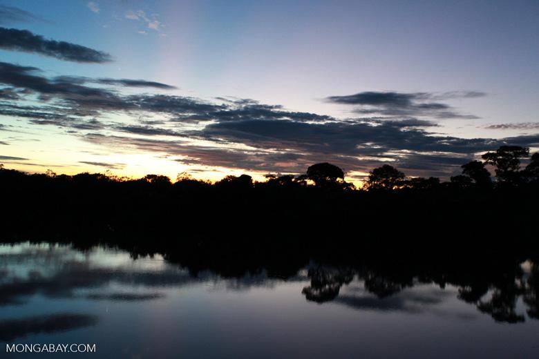 Sundown on the Rio das Mortes [brazil_1198]