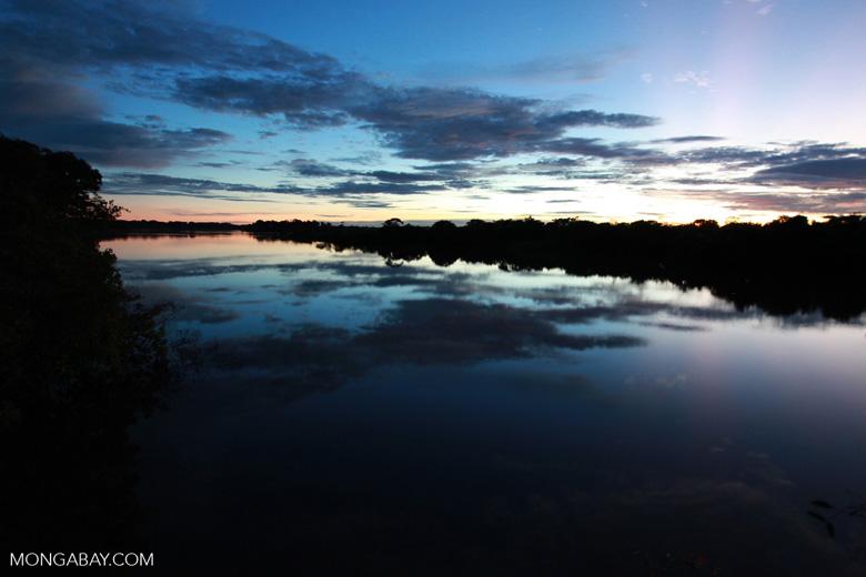 Sundown on the Rio das Mortes [brazil_1201]