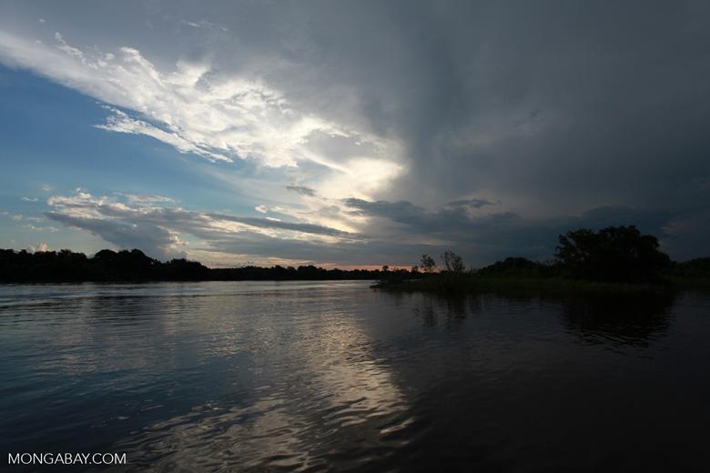 Sunset over the Cuiaba river [brazil_1876]