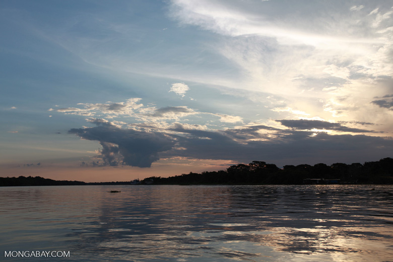 Sunset over the Cuiaba river in the Pantanal [brazil_1890]