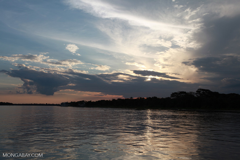 Sunset over the Cuiaba river in the Pantanal [brazil_1891]