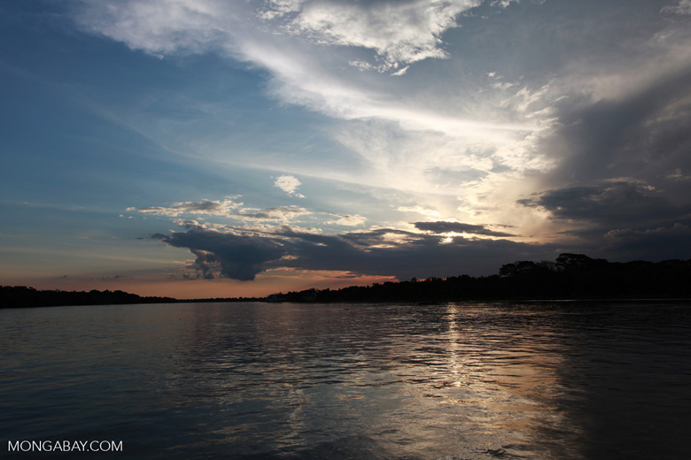 Sunset over the Cuiaba river in the Pantanal [brazil_1892]
