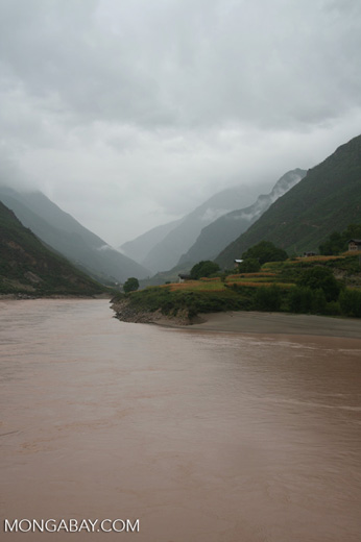 Yangtze river gorge in Yunnan Province
