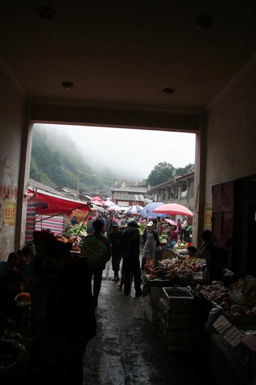 Entrance to Deqin market