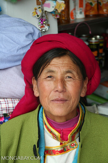 Tibetan woman in the Deqin market