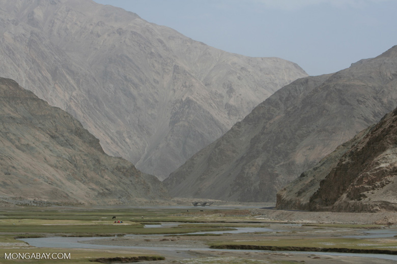 Imposing mountains of the Pamir Plateau