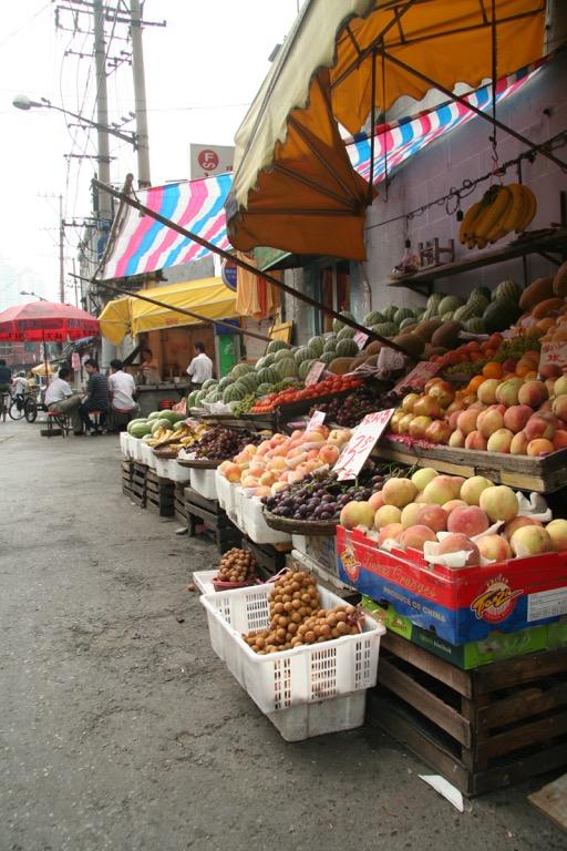Fruit market in Shanghai
