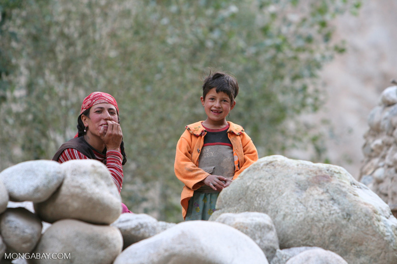 Tajik mother and son
